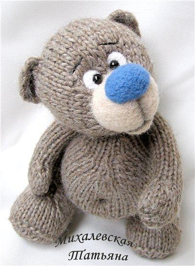 ...вязаные игрушки. вязание спицами мишка, вязание мишек ...