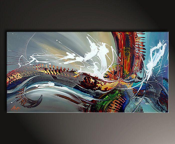 Moderne malerei auf leinwand dieu ultraleicht abstrakte kunst galerie inspire art kunst - Abstrakte kunst auf leinwand ...