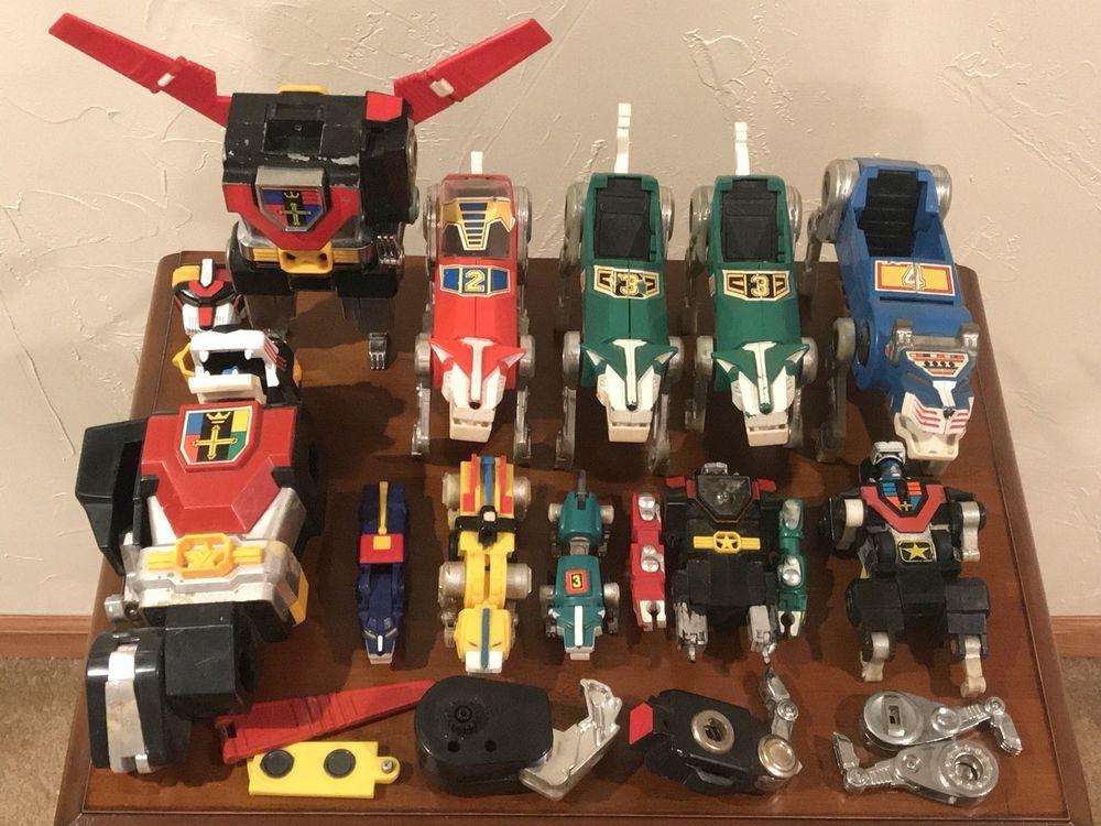 Vintage 1980s Voltron Go Lion Force LIONBOT Toys - HUGE BUNDLE WHOLESALE  LOT!!!