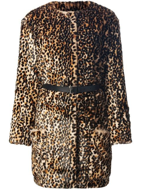 e3b195615e95 Shop Nina Ricci leopard print coat in Liska from the world's best  independent boutiques at farfetch.com. Over 1000 designers from 60  boutiques in one ...