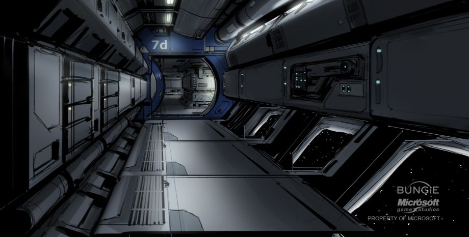 futuristic environment paintings - Google Search
