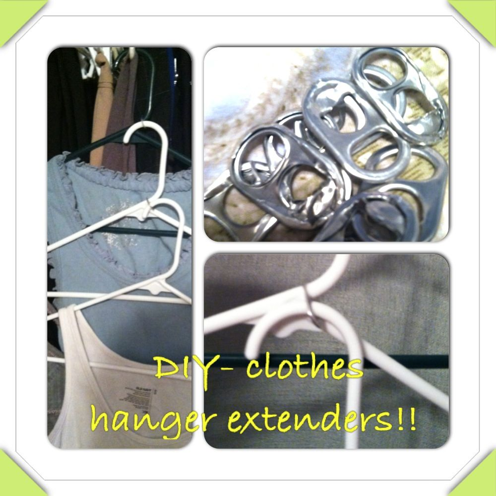 Diy Clothes Hanger Extenders Can Tabs Put Around Your Regular