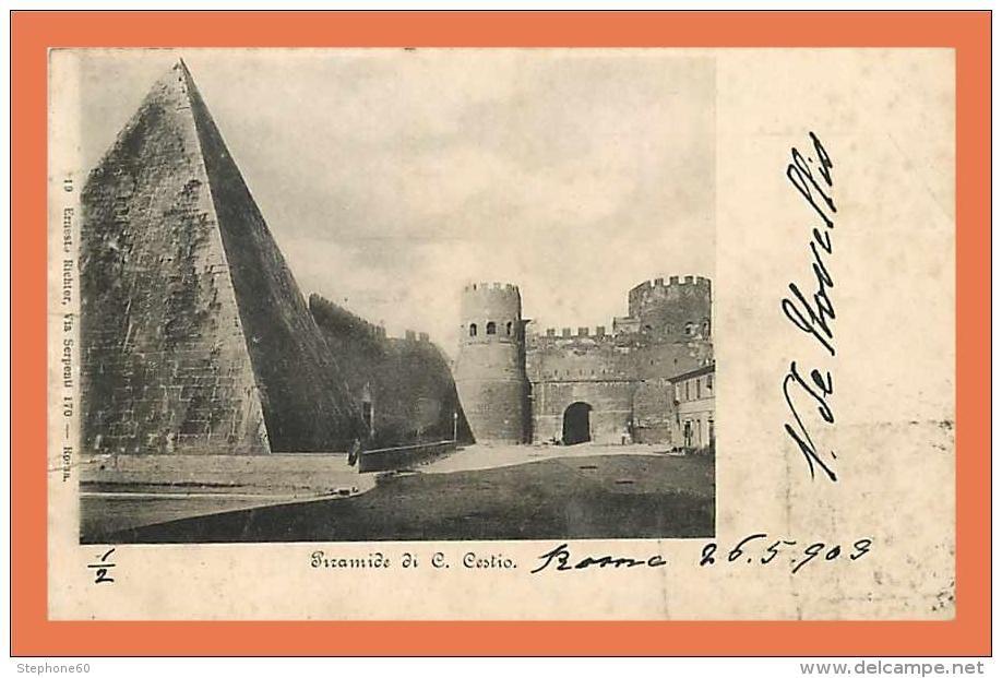 Roma - Piramide di C. CESTIO 1909