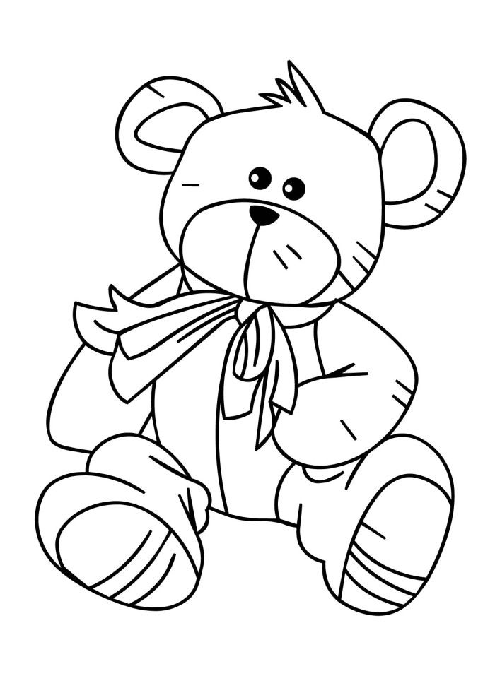 Pictures Of Teddy The Bear Coloring Pages - Teddy Bear Coloring ...