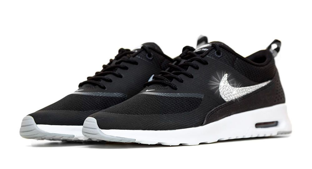 Nike Air Max Thea + Crystals - Black White abe53f219d34