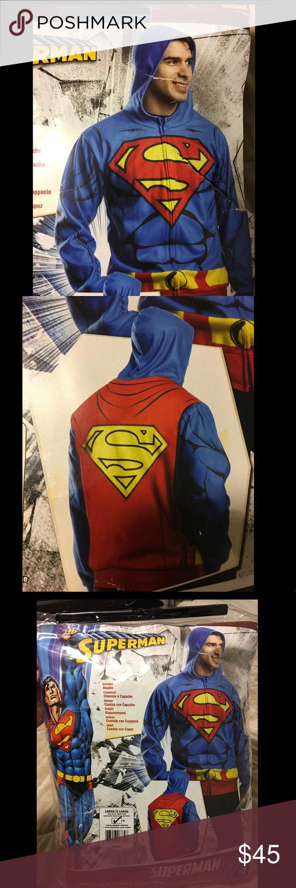Adult superman hoodie/costume Adult Superman hoodie ...