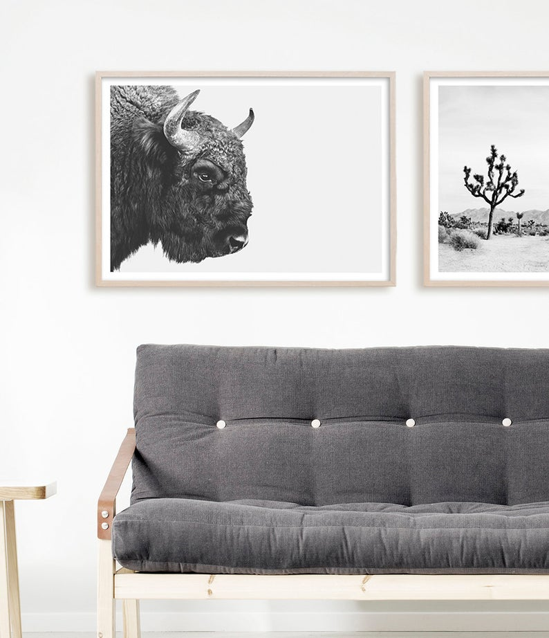 Buffalo Print Black And White Wall Art Bison Print Southwestern Decor Buffalo Photography American Bison Buffalo Art Large Art Print In 2020 Buffalo Art Black And White Living Room Decor Wall #white #wall #decor #for #living #room