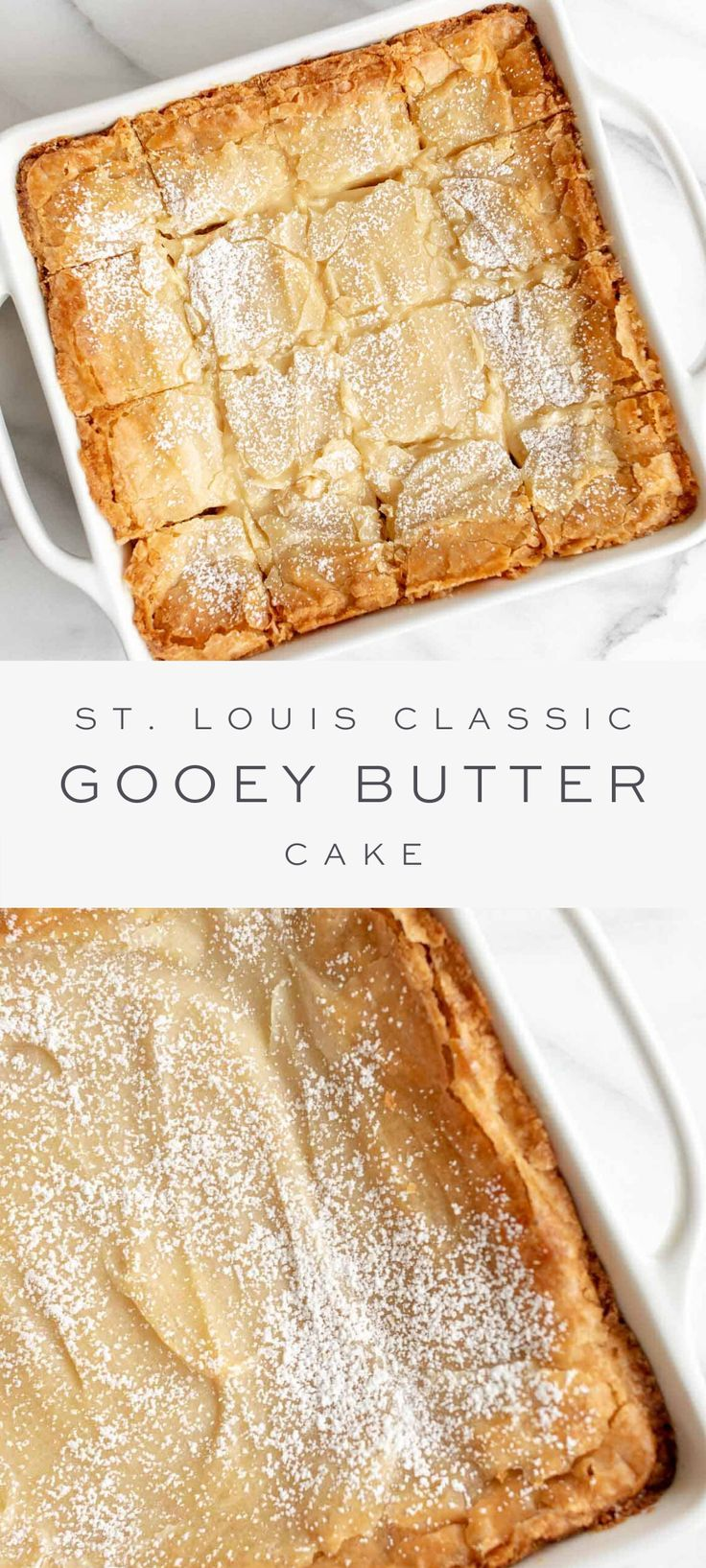 Gooey Butter Cake with Brown Butter