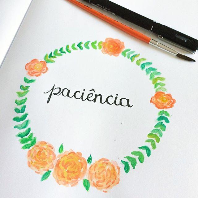 Repito o tempo todo pra minha ansiedade. #inktober #watercolor #aquarela #togetherweletter #primeirorabisco #byalinealbino #letters #handwritting #lettering #achadosdasemana #communityfirst