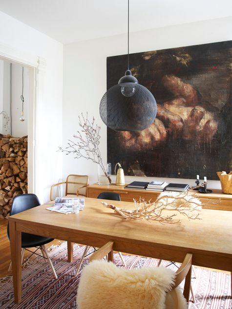 Emma Reddington's home on Design*Sponge-- very warm, moody feel, but not too dark