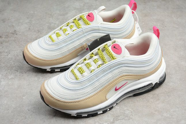 buy online 42ae0 e746a Authentic 2018 Women Nike Air Max 97 Light Bone Deadly Pink White 921733-004