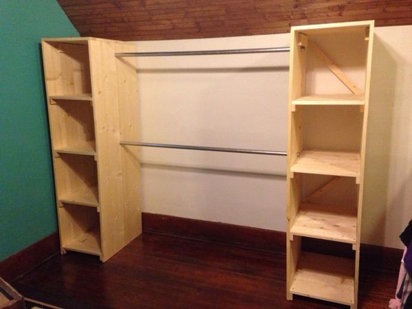 Elegant Cheap And Easy Little Project For Extra Clothes Storage.