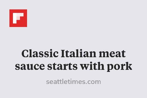 Classic Italian meat sauce starts with pork http://flip.it/4Wiid
