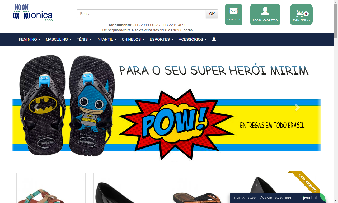 fbb4426be monica shop é confiável reclame aqui  loja especializado em Calçados e  artigos esportivos
