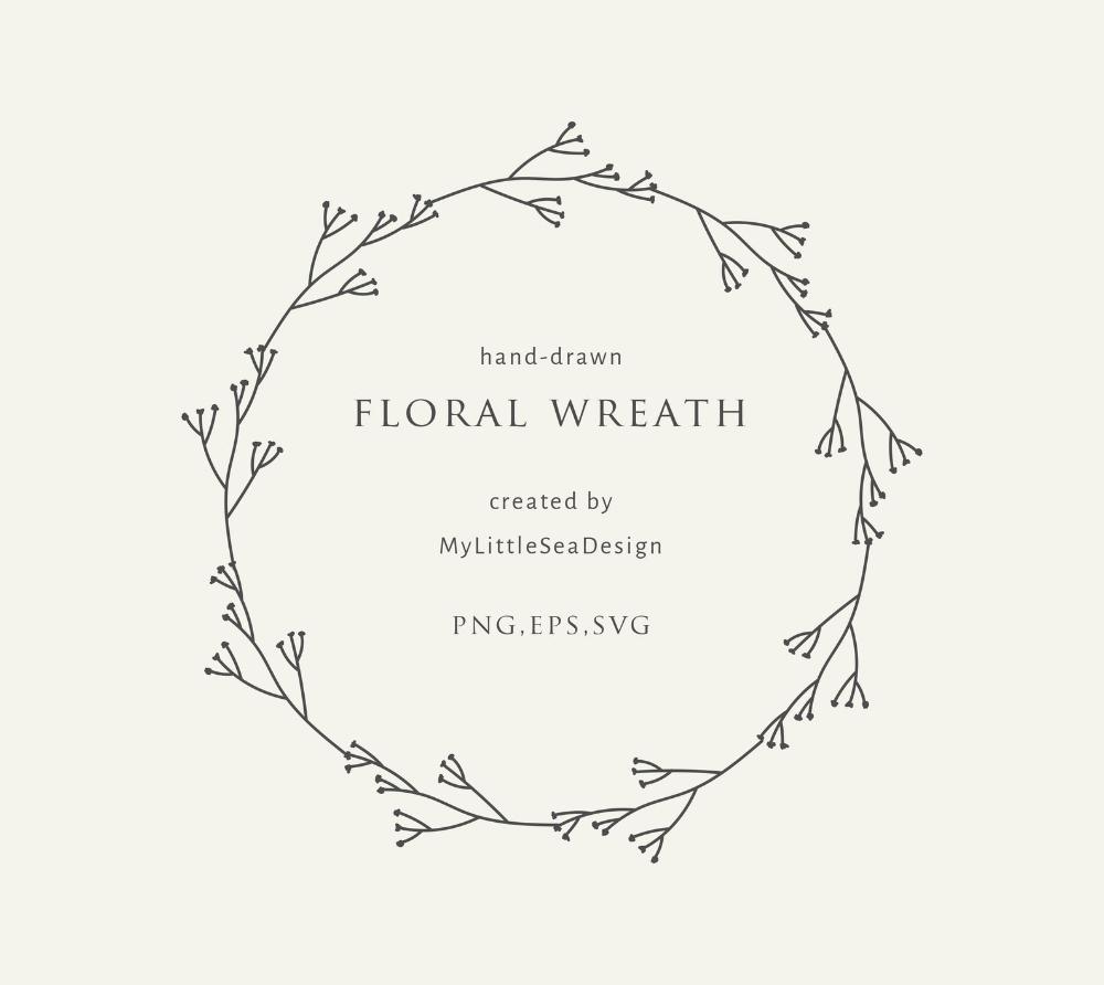 Photo of Floral wreath svg vector files – laurel wreath svg – flowers svg – circle monogram frame svg – spring svg – summer svg – botanical clipart