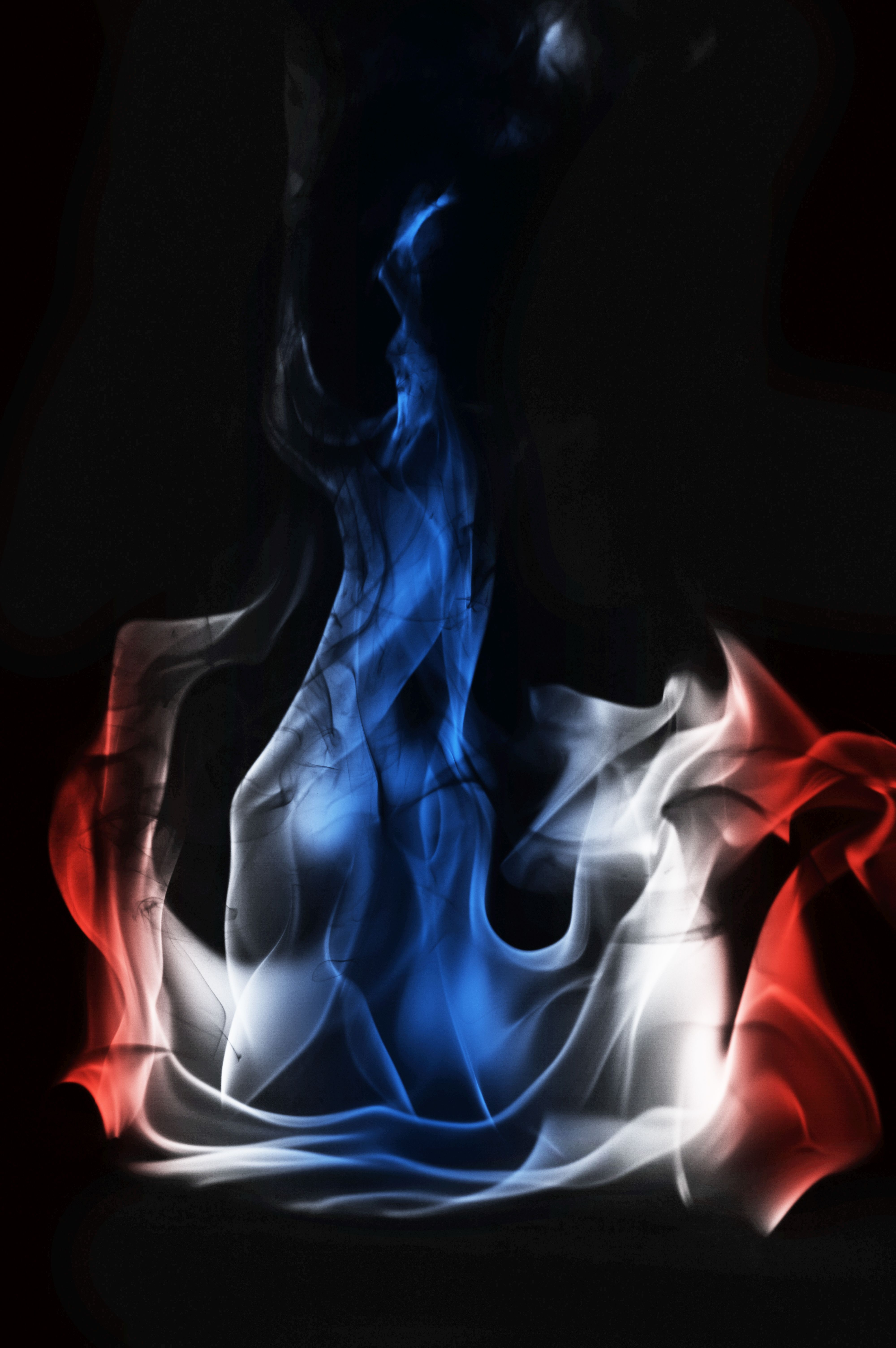 Multi Color Fire Flame Abstract On Black Background A Mystic Colorful Smoke Thai Flag Colored Smoke Black Backgrounds Texture Images