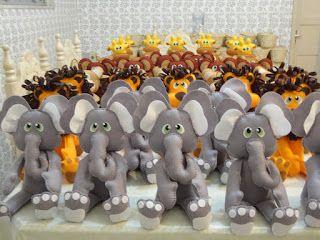 Babados & Bordados: Safari do Enzo(Elefante,Macaco,Hipopótamo,Girafa  ...