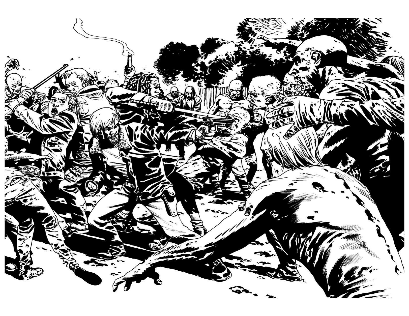 Jeux De Coloriage De Zombie Superbe Image Livre De Coloriage Walking Dead Coloring Books Coloring Pages Cat Coloring Book