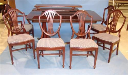 Fabulous Duncan Phyfe Style Dining Table With 6 Duncan Phyfe Spiritservingveterans Wood Chair Design Ideas Spiritservingveteransorg