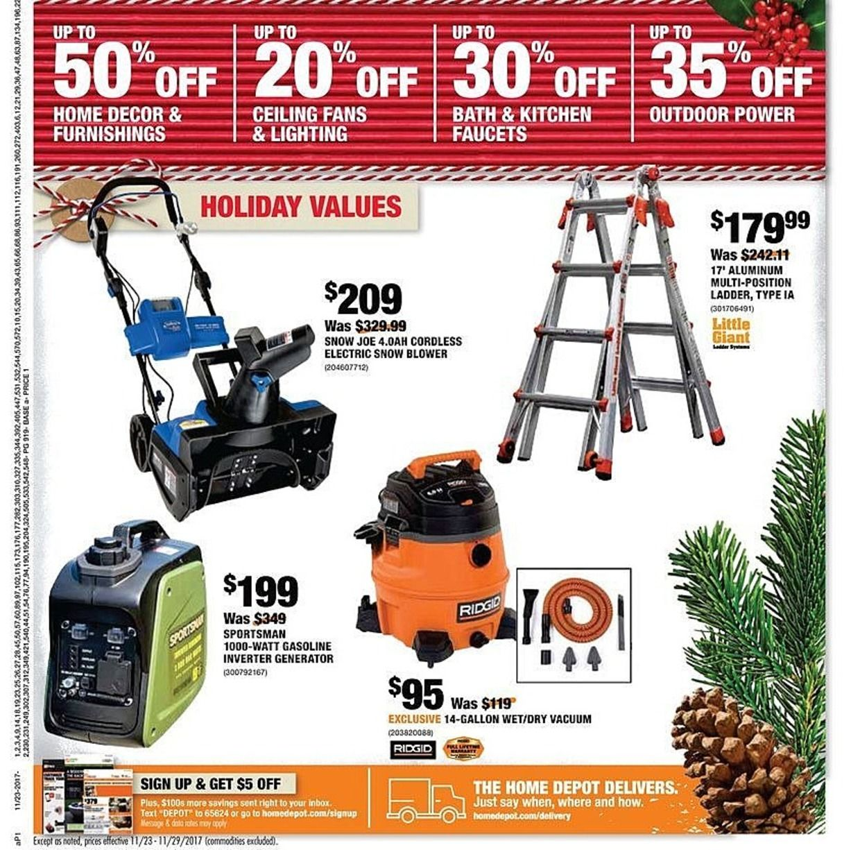 Home Depot Black Friday 2018 Ads And Deals Browse The Home Depot Black Friday 2018 Ad Scan And The Complete Product By Pr Home Depot Coupons Black Friday Depot