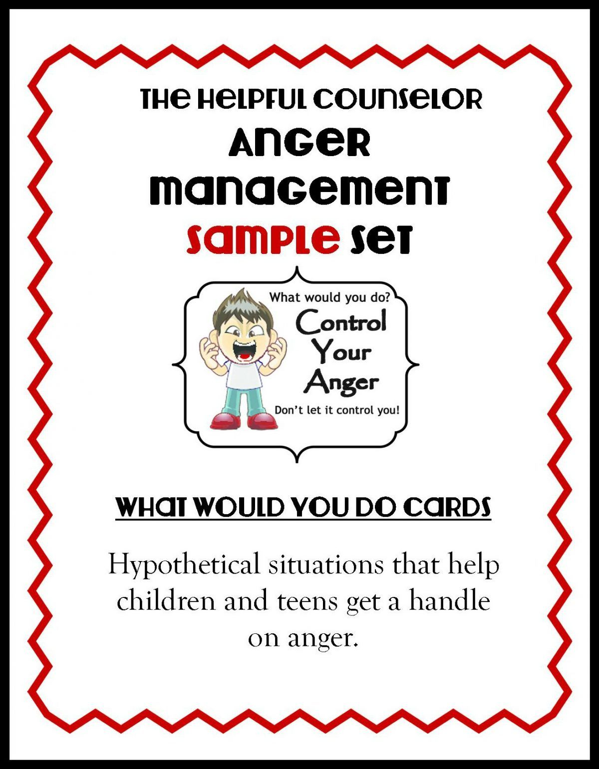 Anger Management Activity Free Problem Solving Cards