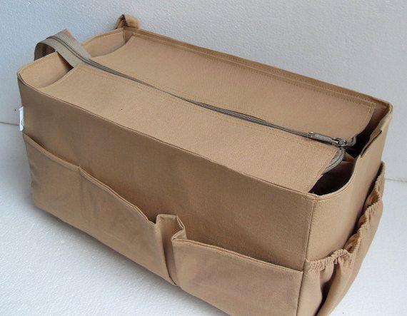 0d4f81b8a62d Purse organizer for Louis Vuitton Neverfull GM with Zipper closure- Bag  organizer insert in Sand
