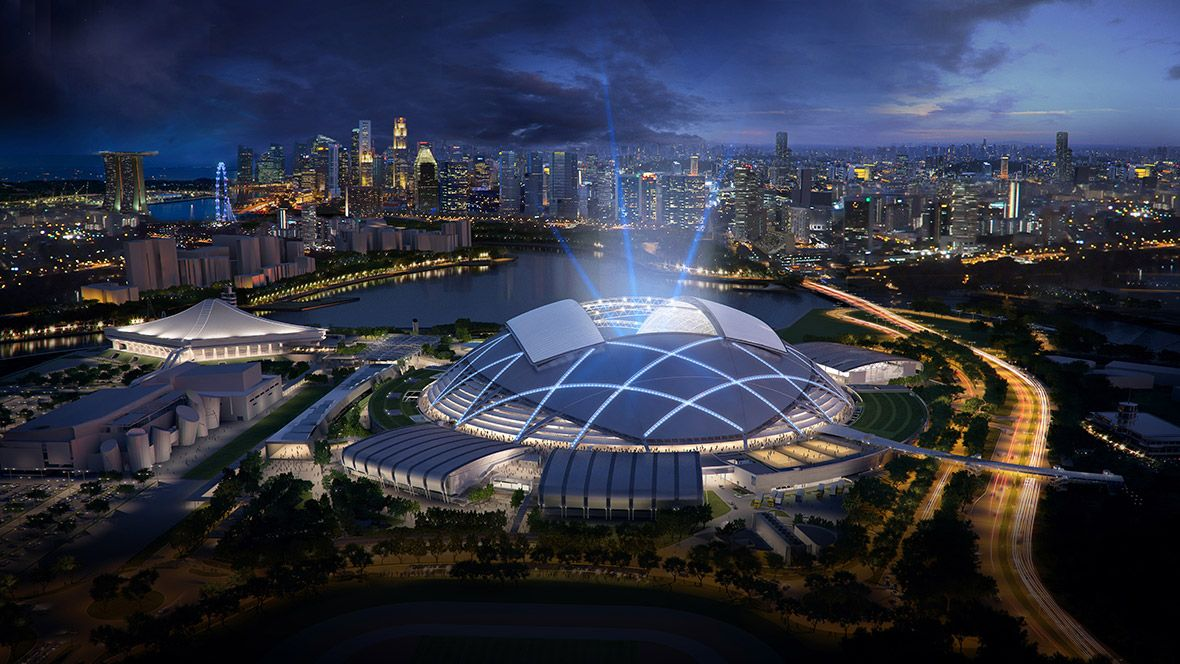 World Architecture Festival 2014 Building Of The Year Award Winners Singapore Sports Hub By Singapore Sports Hub Design Team Won The Completed Bui