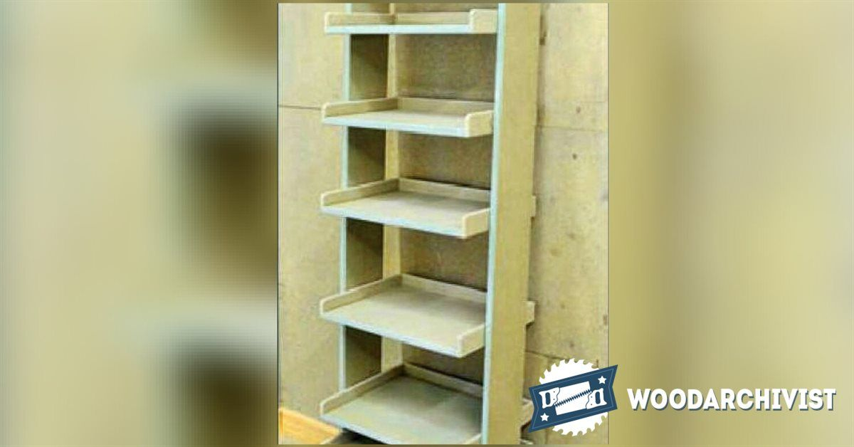 Ladder Shelving Unit Plans Ladder Shelving Unit