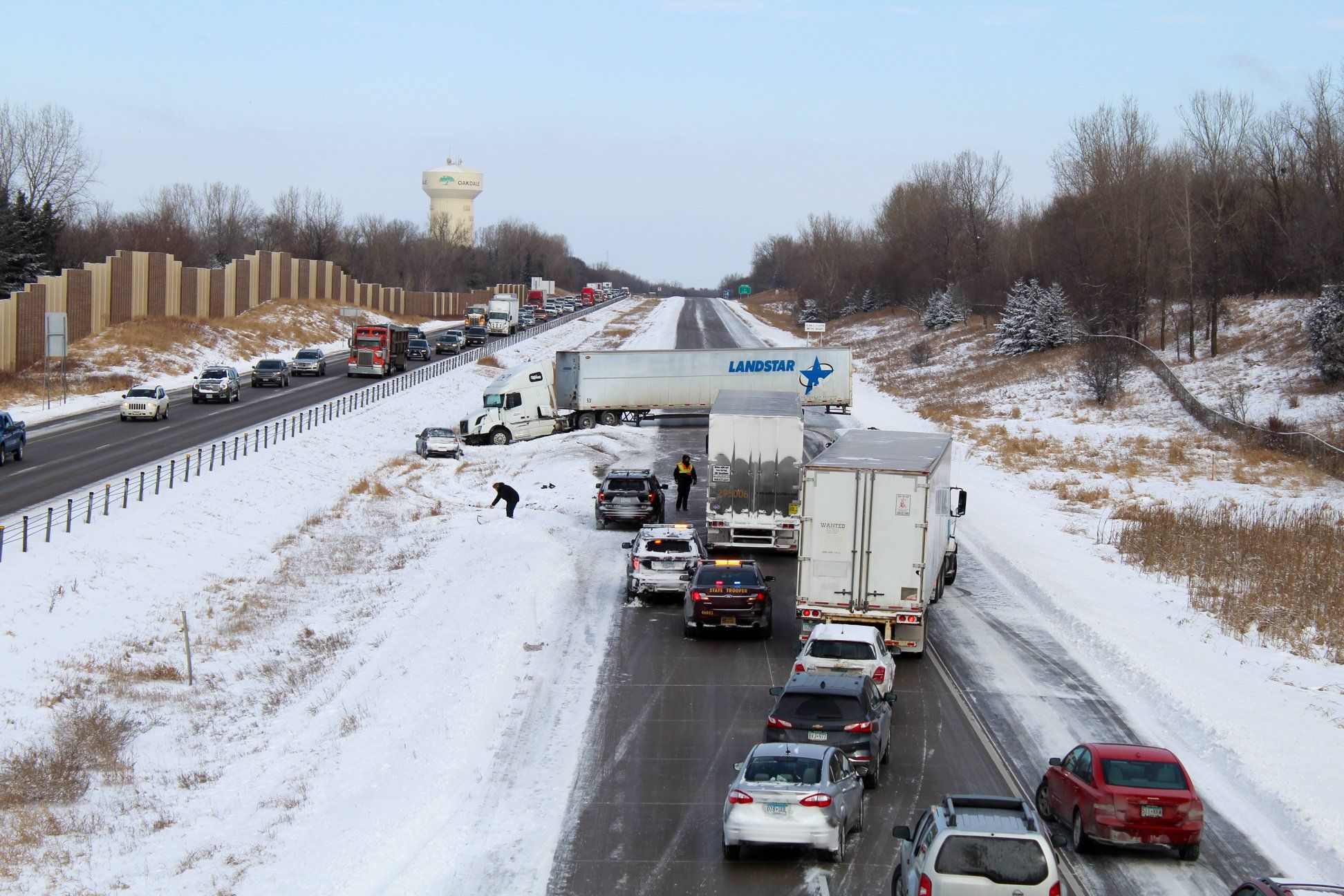 Slow down! Roads may look clear, but icy spots can be