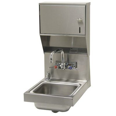 Advance Tabco Super Saver 12 X 16 Wall Mounted Handwash Station With Faucet Faucet Sink Kitchen Sink Window