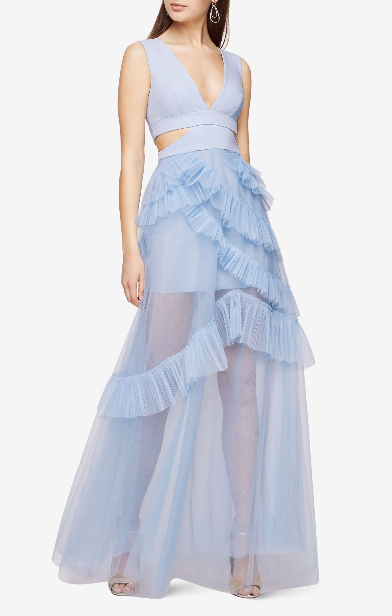 81b284e852f5 Joela Pleated Tulle Gown | Stylish | Tulle gown, Bcbg gowns, Tulle dress