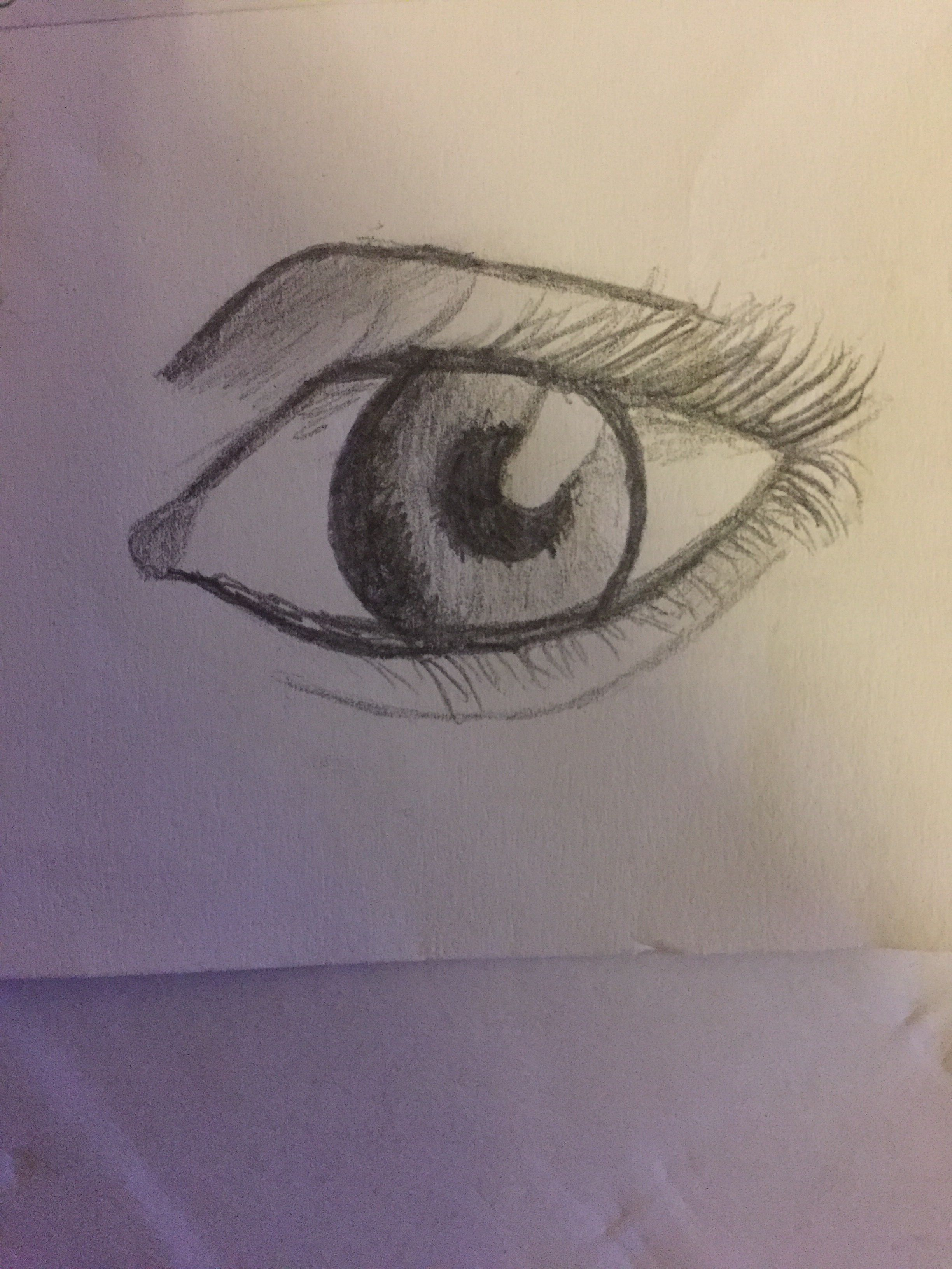 Eye drawing produced with simple hb pencil drawings drawings