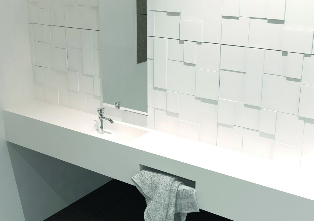 Burgmans Sanitair Puurwit Solid surface fontein - Product in beeld ...