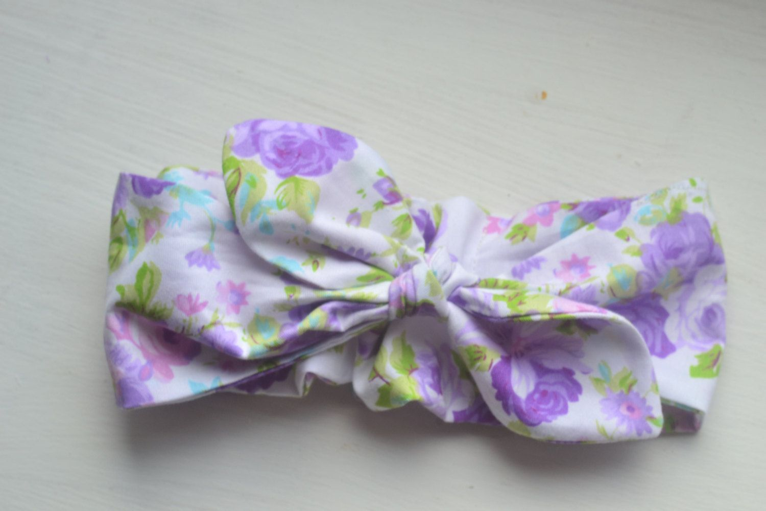 violet baby headband lavender headband 100% organic cotton headband violet baby headwrap girl knot headband summer baby outfit girl turban by SweetSwaddle on Etsy