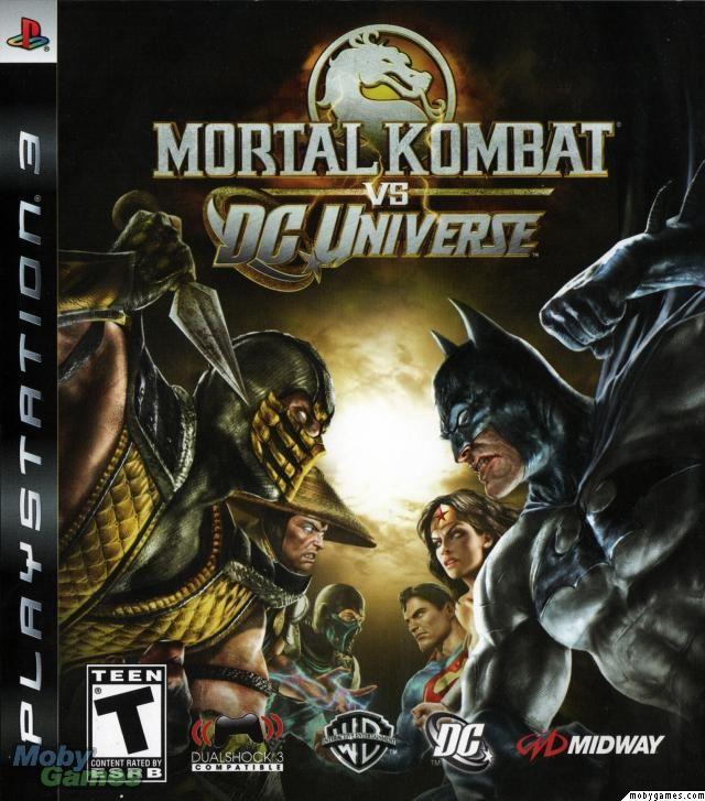 Mortal Kombat Vs Dc Universe Playstation 3 Front Cover Mortal