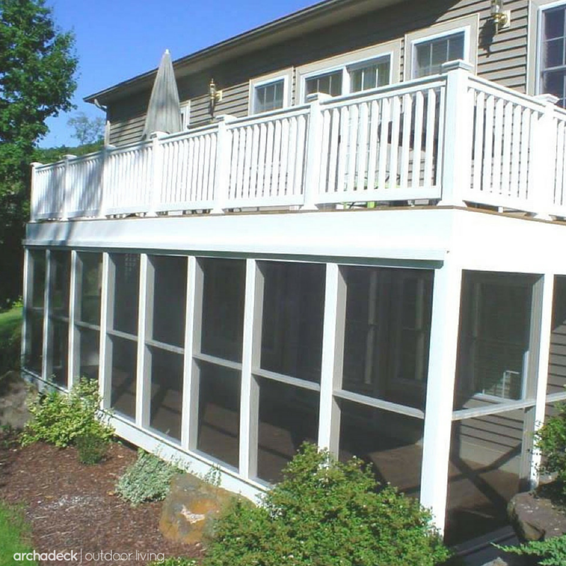 Porch Vs Deck Which Is The More Befitting For Your Home: Under Deck Screened Room: Downpours, Excessive Heat And