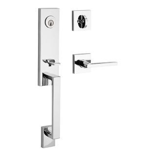 Kwikset 818SCELIP-S San Clemente Single Cylinder Keyed Entry Handleset with Smar