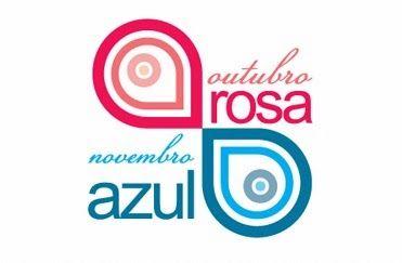 Resultado de imagem para OUTUBRO ROSA - NOVEMBRO AZUL - LOGOS