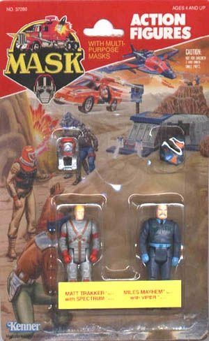 Set of 3 M.A.S.K Miles Mayhem /& Floyd Malloy action figures Kenner Sly Rax