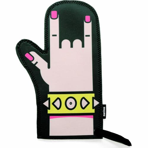 Punk Rock Oven Mitt Oven Glove Oven Mitts Gothic Homeware