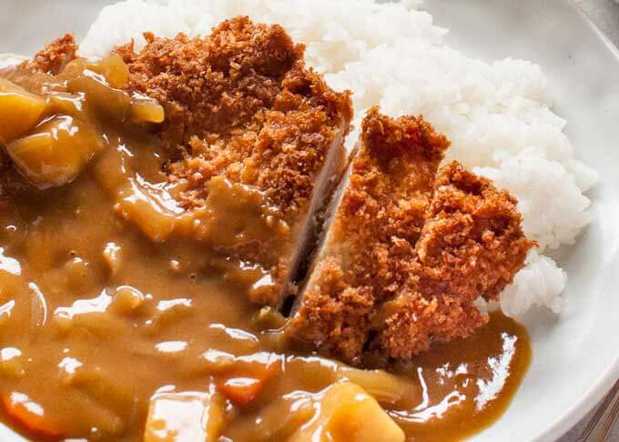 Katsu Curry Japanese Curry With Chicken Cutlet Recipetin Japan Resep Ide Makanan Resep Makanan Resep Ayam