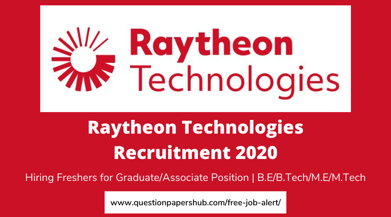 Raytheon Recruitment 2020 Hiring Freshers For Graduate Associate Engineer Position B E B Tech Me Mtech Apply Now In 2020 Job Posting How To Apply Recruitment