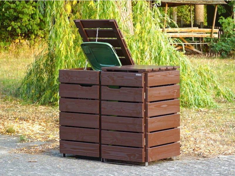 2er Mulltonnenbox Holz 120 Liter Mulltonnenbox Mulltonnenbox Holz Und Mulltonnenverkleidung