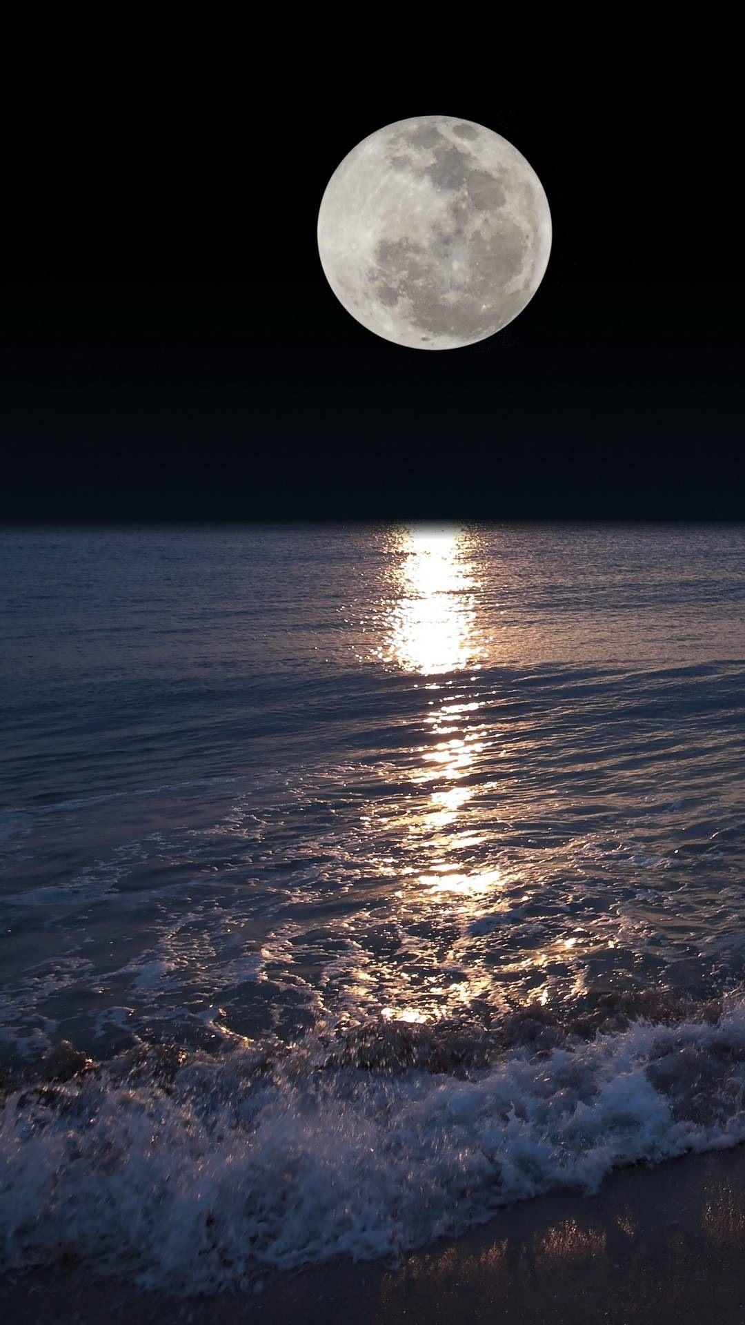 night moon #moon #night #ocean #nightmoon #nature #picsart #remixit #wallpaper #wallpapers #bestwallpaper