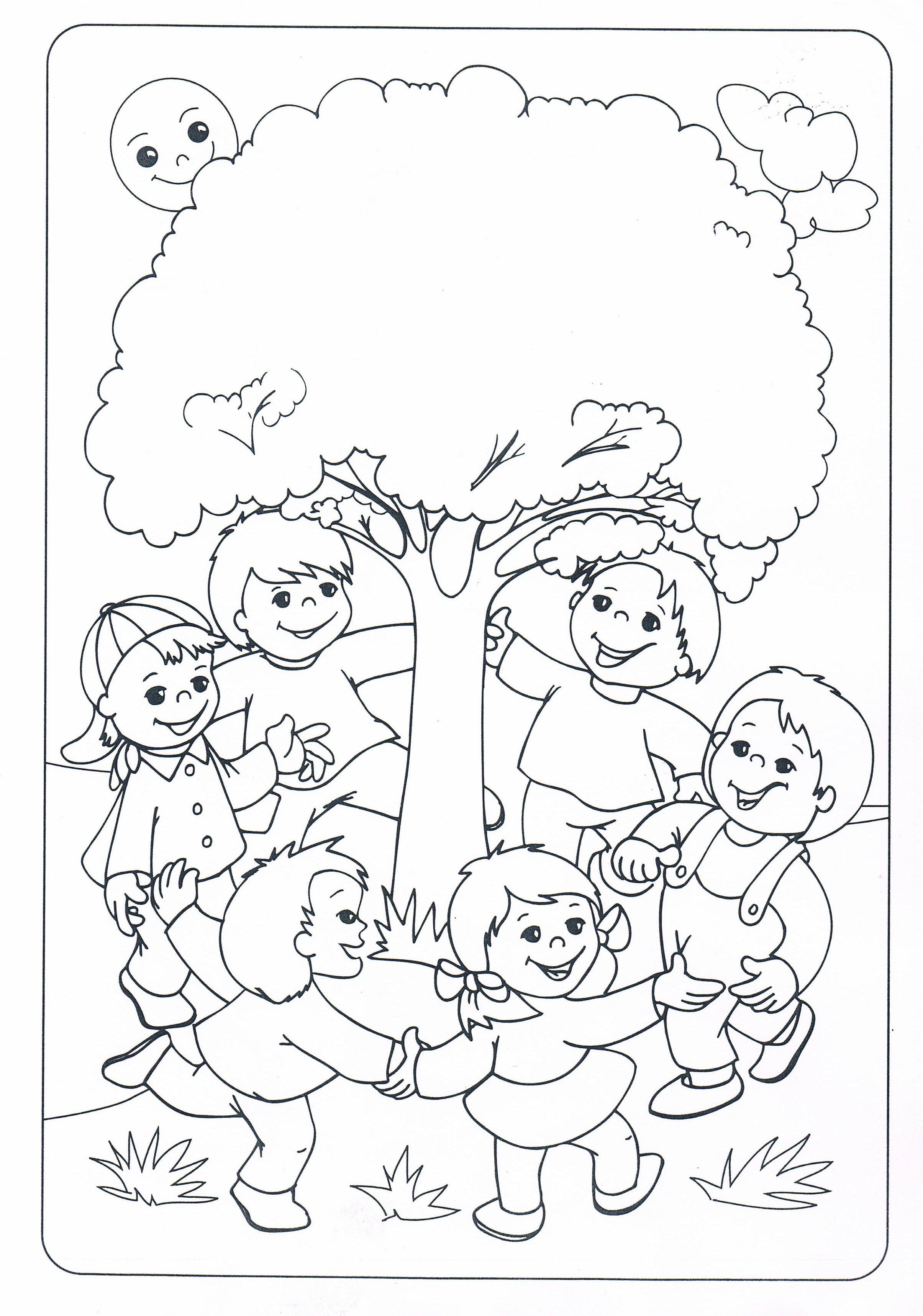 Ağaç Sevgisi Boyama Sayfaları