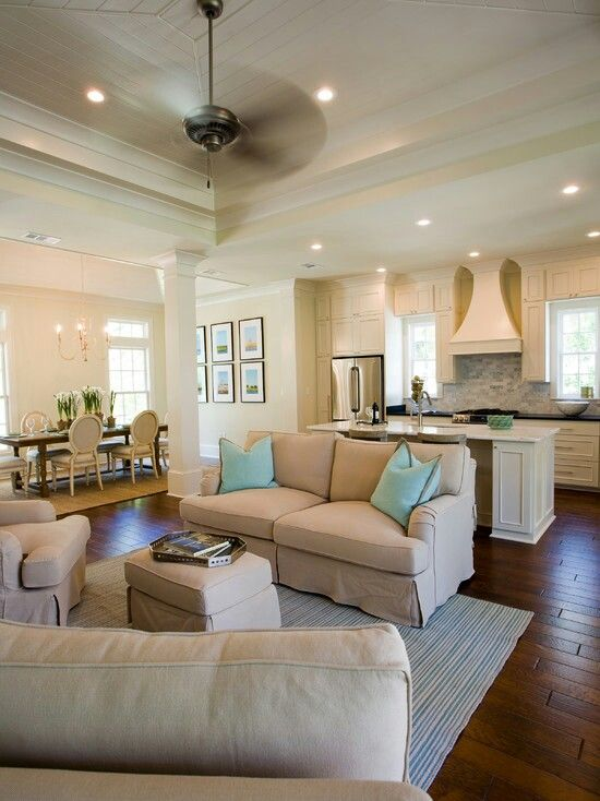 Open floor plan lighting lighting in 2019 living room - Decorating open floor plan living room and kitchen ...