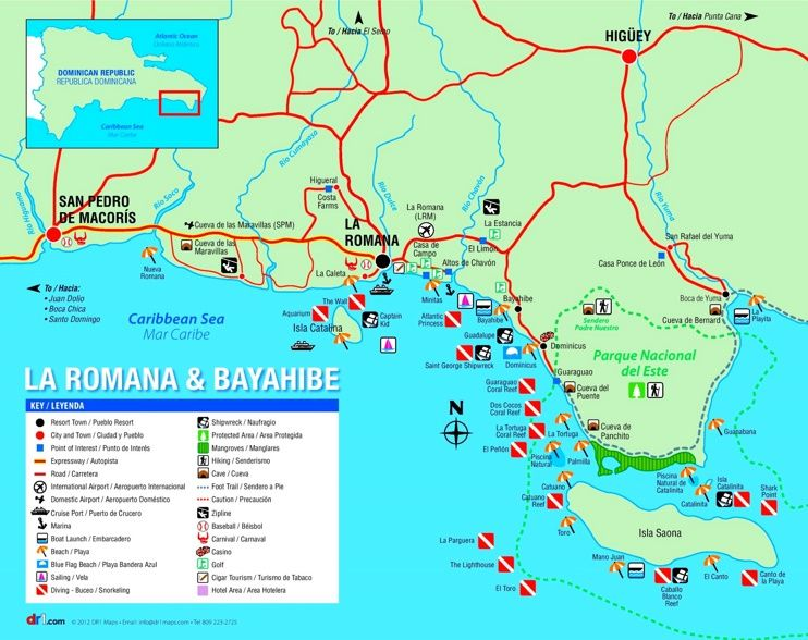 La Romana tourist map Maps Pinterest Tourist map Dominican