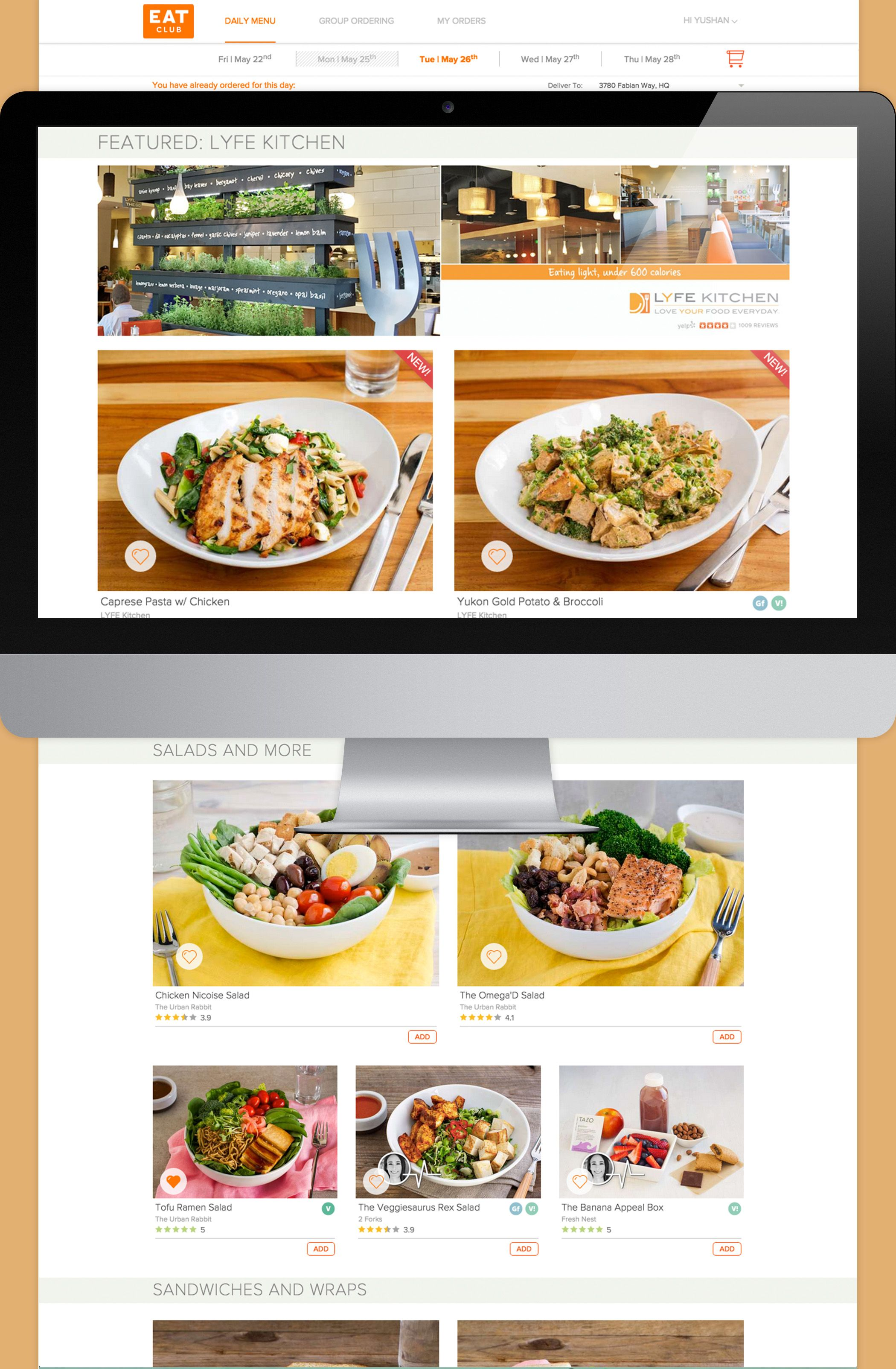 Eat Club Lunch Menu Featured With Lyfe Kitchen Office