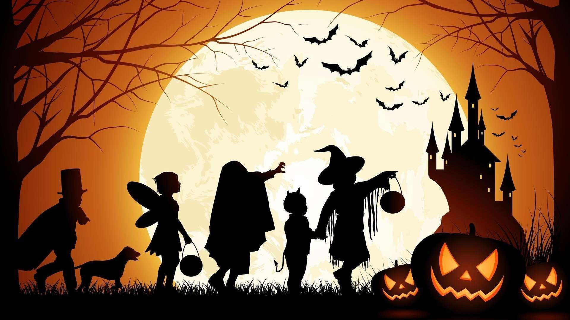 Halloween Wallpapers Hd 1080p Buscar Con Google Halloween Images Halloween Silhouettes Halloween Wallpaper