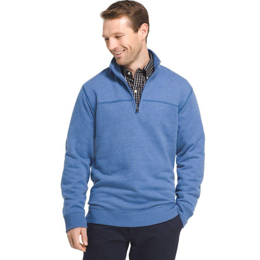 35685096299 Men s Arrow Classic-Fit Sueded Fleece Quarter-Zip Pullover ...
